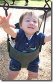 Noah in a swing